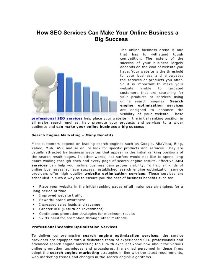 How SEO Services Can Make Your Online Business a                     Big Success                                          ...