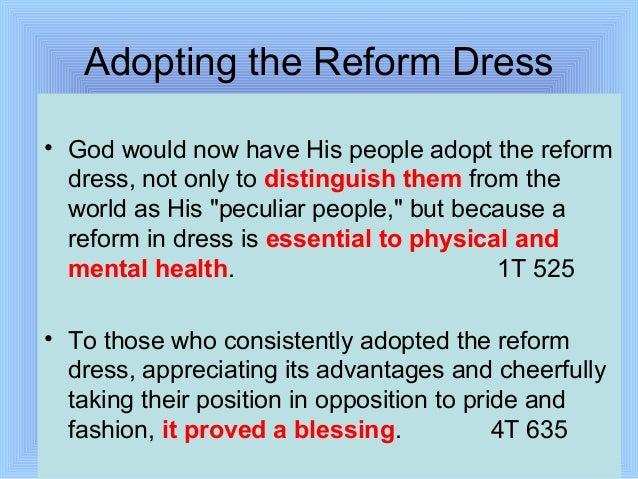 feminist critique of the dress reform Another piece of our feminist wedding jigsaw slipped into place my friends alma and daniel reisel, a jewish couple who recently married, had issues with the standard wedding text.