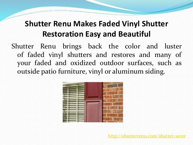 How Shutter Renu Restore The Color And Shine Of Faded