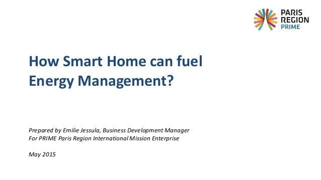 Prepared by Emilie Jessula, Business Development Manager For PRIME Paris Region International Mission Enterprise May 2015 ...