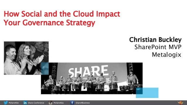 Christian Buckley SharePoint MVP Metalogix How Social and the Cloud Impact Your Governance Strategy