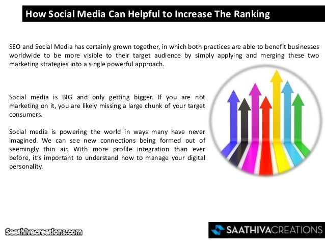 How Social Media Can Helpful to Increase The Ranking SEO and Social Media has certainly grown together, in which both prac...