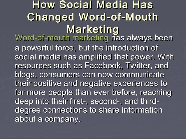 how social media has changed marketing pdf