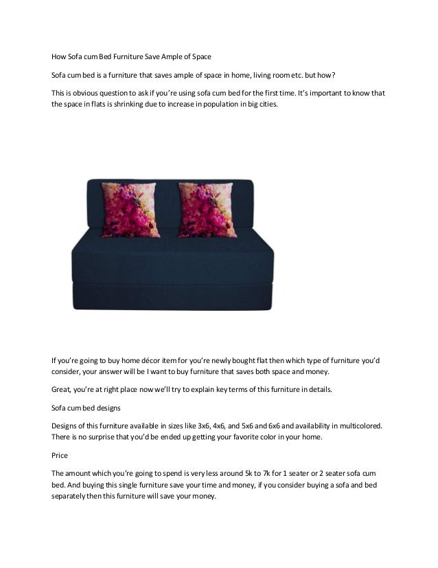Fantastic How Sofa Cum Bed Furniture Save Ample Of Space Cjindustries Chair Design For Home Cjindustriesco