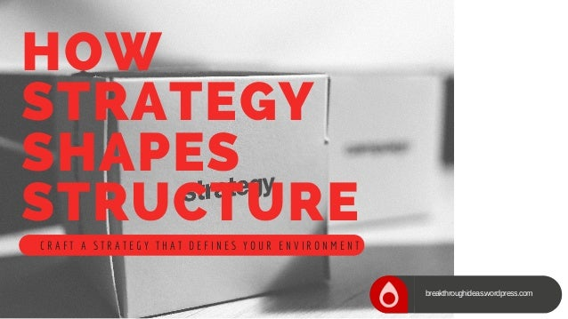 how strategy shapes structure View notes - strategy shapesppt from hrm hr1 at xavier institute of management & research how strategy shapes structure with strategy organizations outperform their.