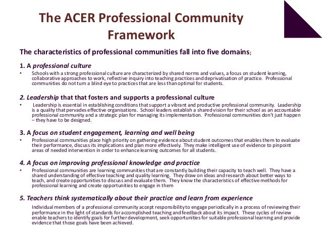 How strong is your school as a professional community?