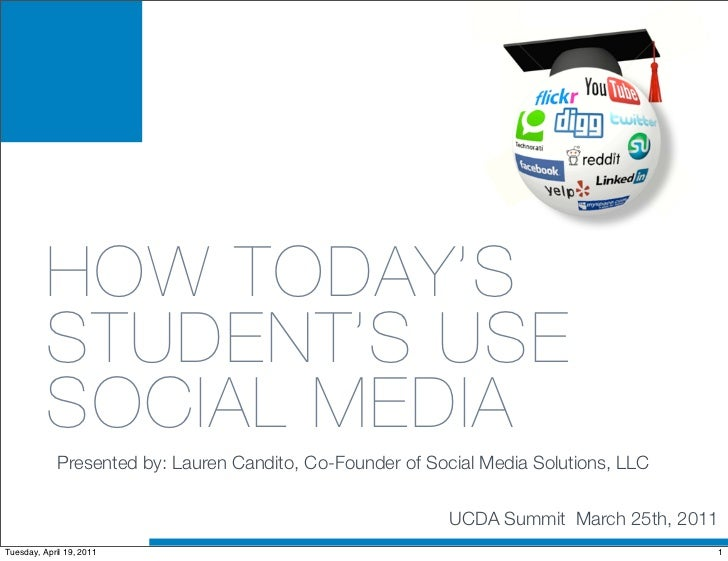 HOW TODAY'S          STUDENT'S USE          SOCIAL MEDIA             Presented by: Lauren Candito, Co-Founder of Social Me...