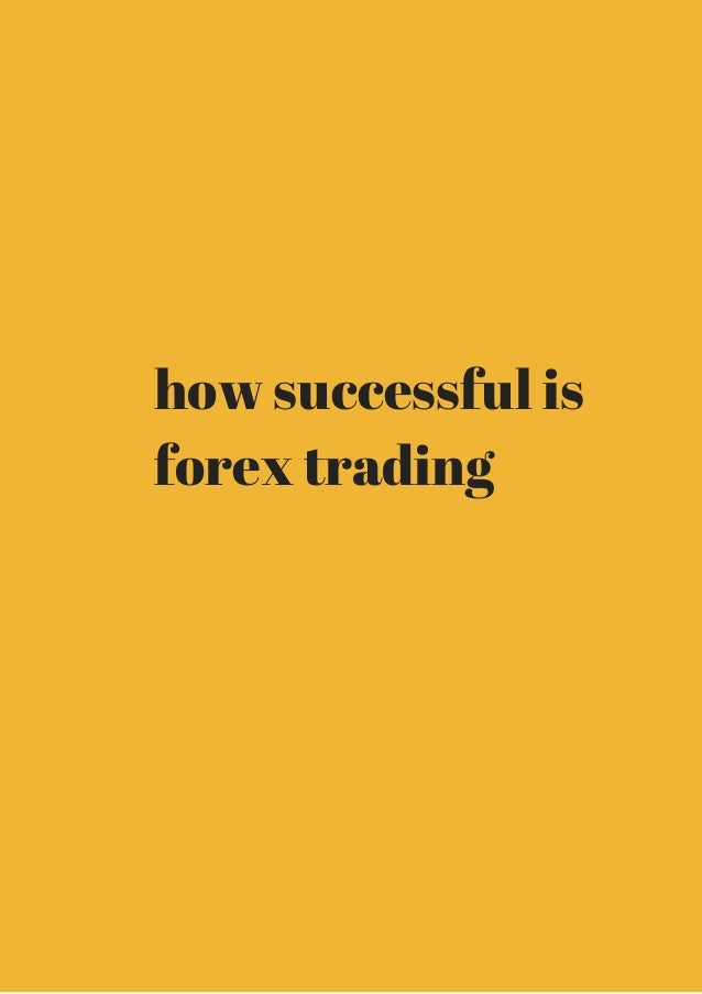 Successful forex trader from home
