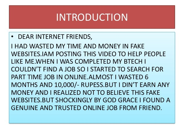 How to find trusted online job Slide 2
