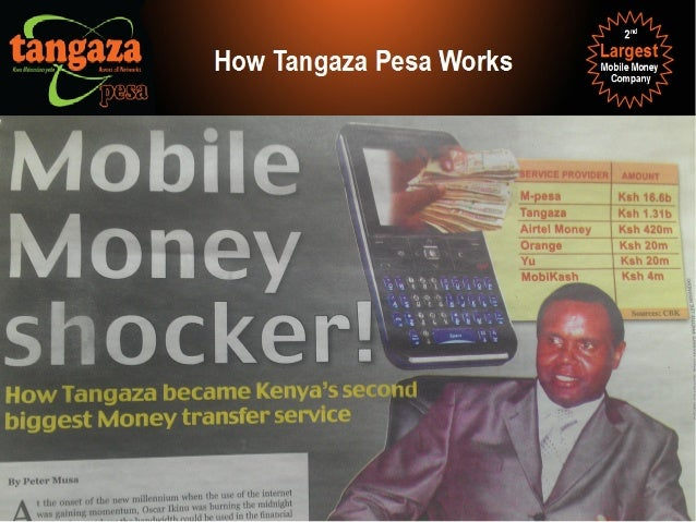 Across All Mobile Networks Most Secure (Zero Fraud) No I.D. Required With or Without a mobile phone How Tangaza Pesa Works...