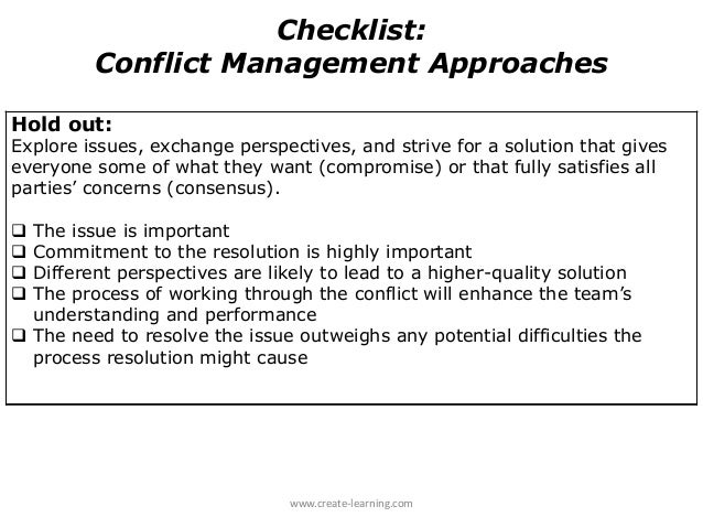 traditional approach in conflict management Modern and traditional business management: an overview of two ideal  organizations that choose for a traditional management approach and organizations.