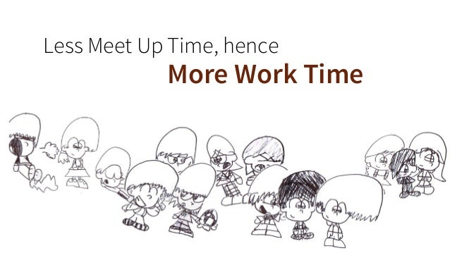 Less Meet Up Time, hence  More Work Time