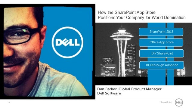 1 SharePoint SharePoint 2013 Office App Store ROI through Adoption DIY SharePoint Dan Barker, Global Product Manager Dell ...
