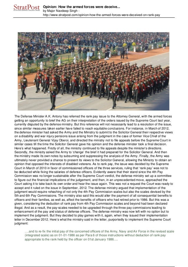 Opinion: How the armed forces were deceive...by Major Navdeep Singh -http://www.stratpost.com/opinion-how-the-armed-forces...