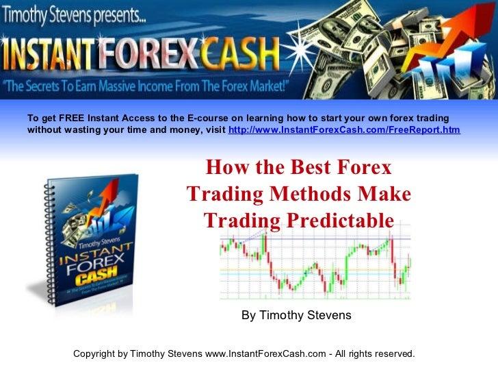 Best forex trading method