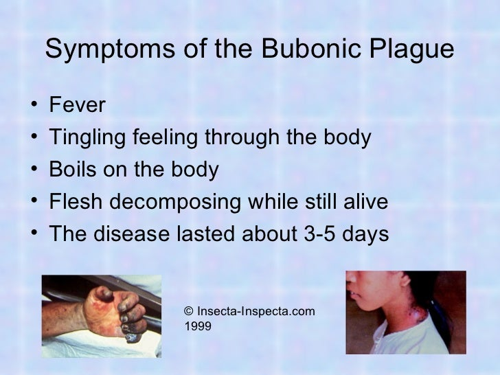 effects of the bubontic plague