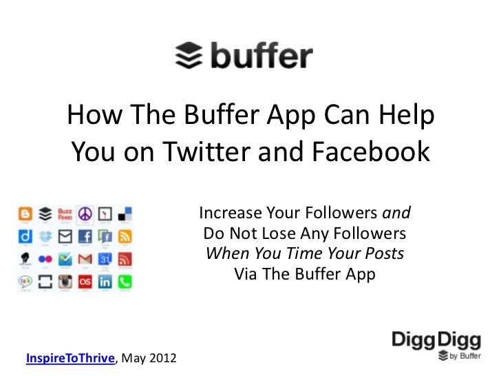 How The Buffer App Can Help      You on Twitter and Facebook                            Increase Your Followers and       ...