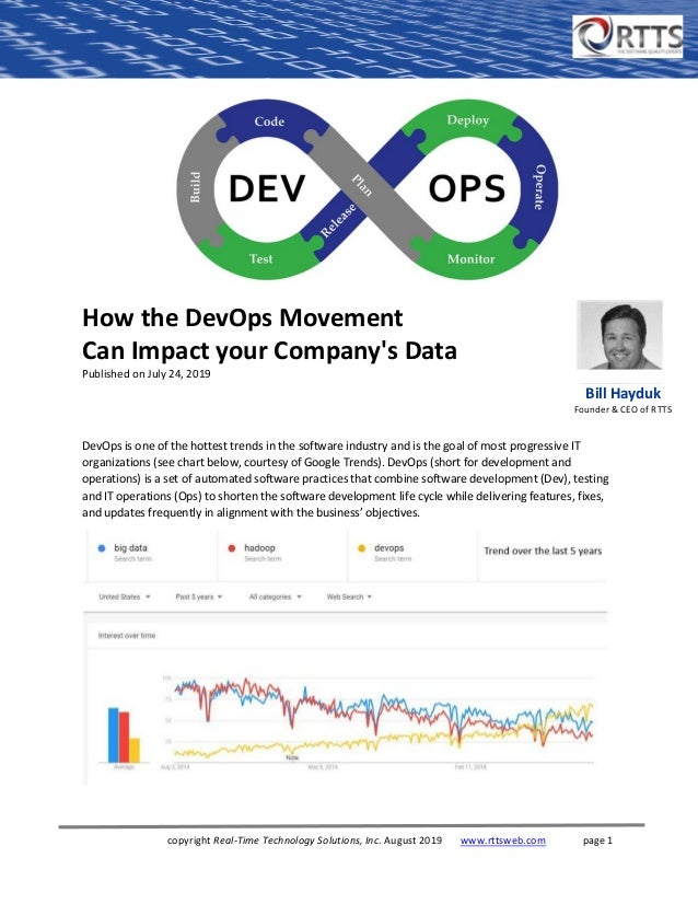 copyright Real-Time Technology Solutions, Inc. August 2019 www.rttsweb.com page 1 How the DevOps Movement Can Impact your ...