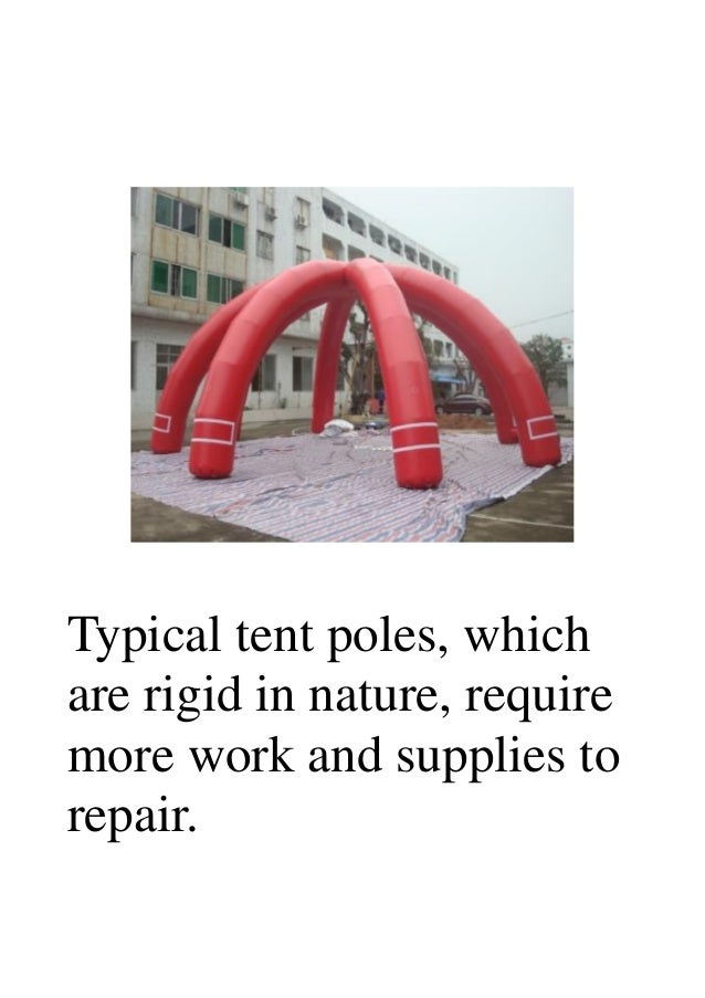 14. Typical tent poles ...  sc 1 st  SlideShare & How the inflatable poles make tents better