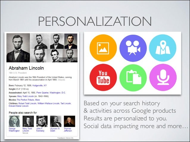 PERSONALIZATION  Based on your search history   & activities across Google products  Results are personalized to you.  ...