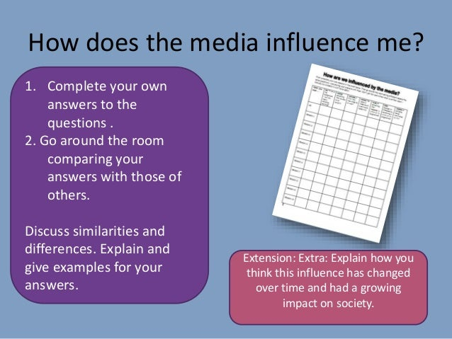 Influence of media on learning attitude