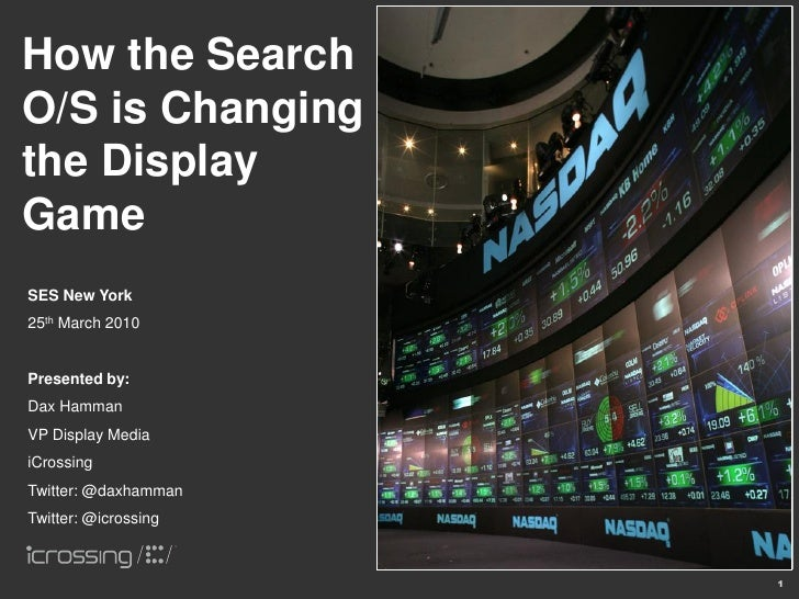 How the Search O/S is Changing the Display Game SES New York 25th March 2010   Presented by: Dax Hamman VP Display Media i...