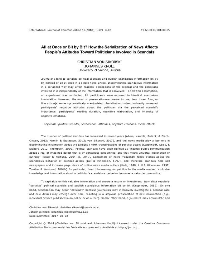 How the Serialization of News Affects People\'s Attitudes Toward Polit…