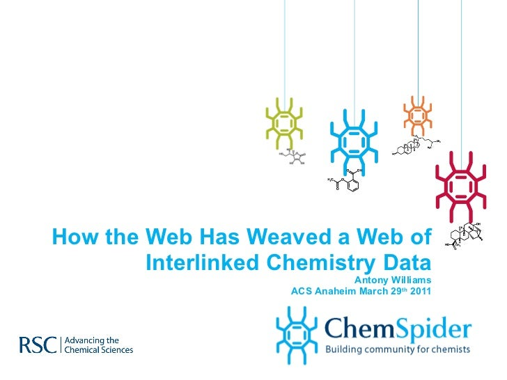 How the Web Has Weaved a Web of Interlinked Chemistry Data Antony Williams ACS Anaheim March 29 th  2011