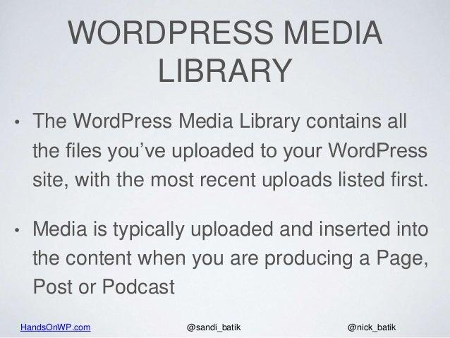 How The WordPress Media Library Works - 2018 Slide 2