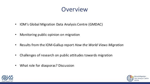 How the world views migration - by IOM Global Migration Data Analysis Centre Slide 2