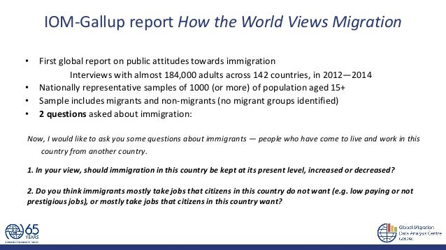 How the world views migration - by IOM Global Migration Data