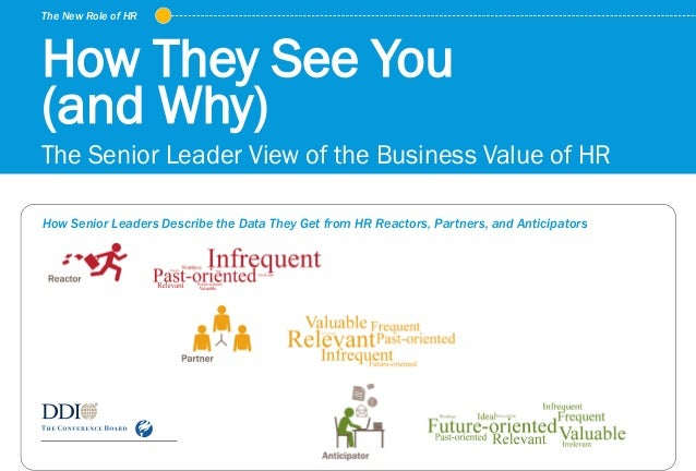 The New Role of HR © Development Dimensions International, Inc. 2015. All rights reserved. How They See You (and Why) The ...