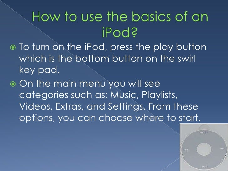 how to use an ipod nano. Black Bedroom Furniture Sets. Home Design Ideas
