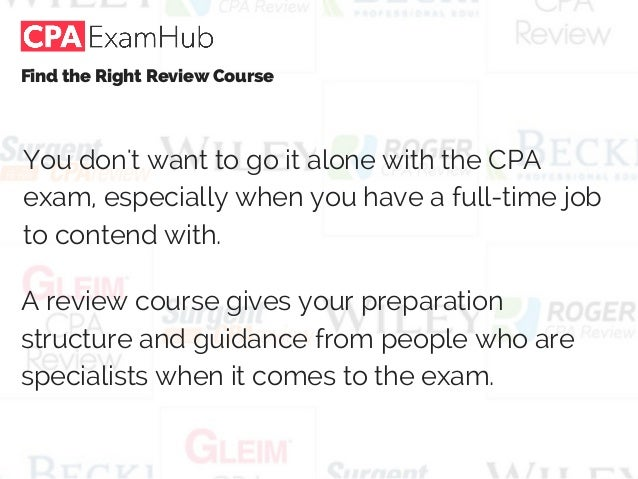 How much time does one need to study each section of a CPA ...