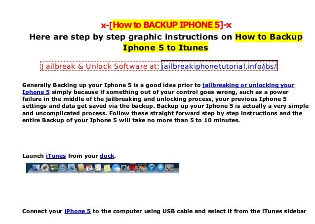 x-[HowtoBACKUPIPHONE5]-x Here are step by step graphic instructions on How to Backup Iphone 5 to Itunes Generally Backing ...