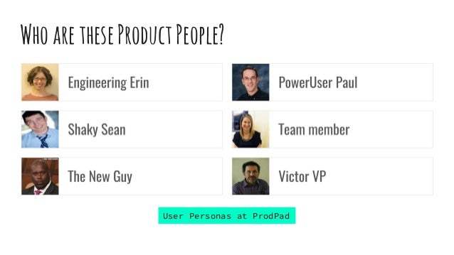 WhoaretheseProductPeople? User Personas at ProdPad