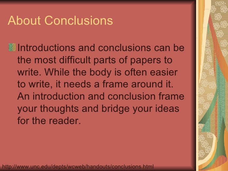 how to write a paper conclusion