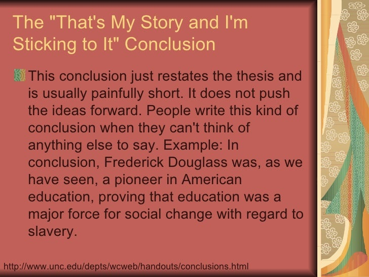 How To...Write A Conclusion How To...Write A Conclusion The