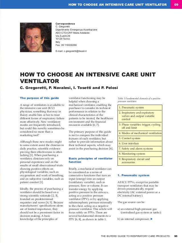 How to 09 o choose an intensive care unit ventilator pelosi 2008 fandeluxe Gallery