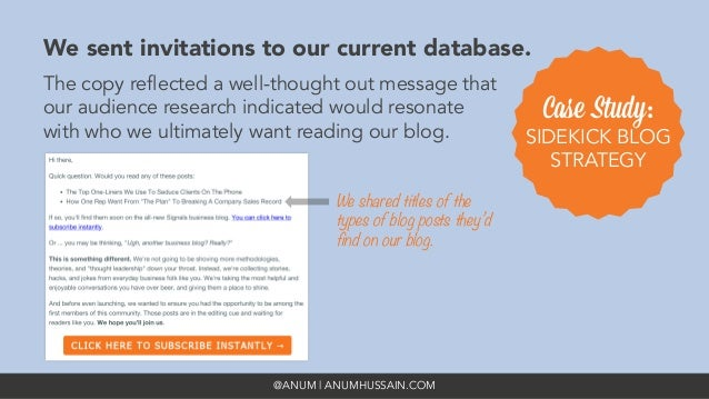 @ANUM | ANUMHUSSAIN.COM We sent invitations to our current database. The copy reflected a well-thought out message that ou...