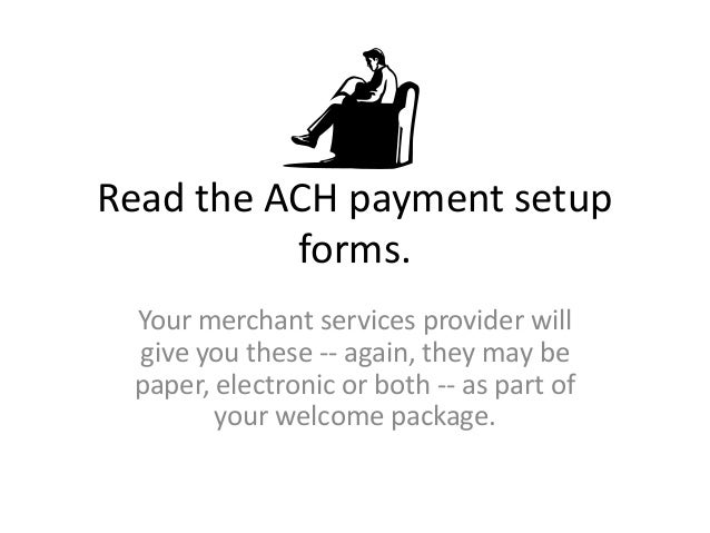 how to set up ach payments