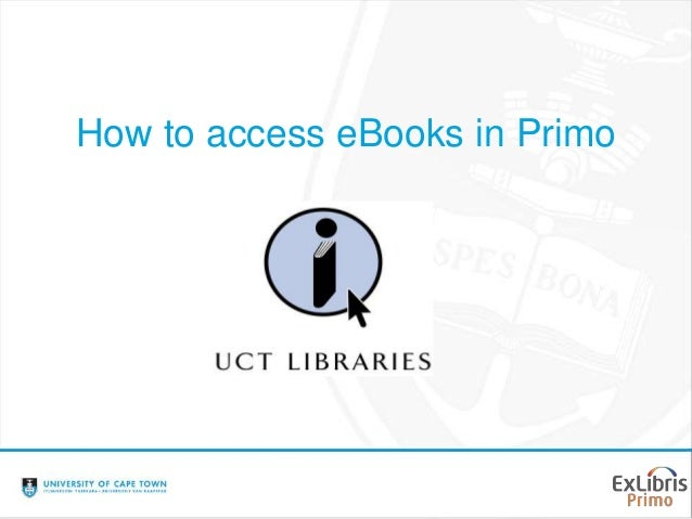 How to access eBooks in Primo