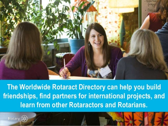 How to access the Worldwide Rotaract Directory Slide 2