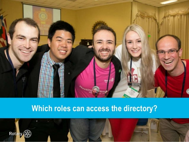 How to access the Worldwide Rotaract Directory Slide 3