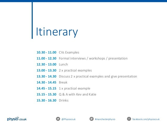 Physio how to ace a therapy interview itinerary sciox Images