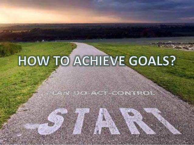 Set The Goals