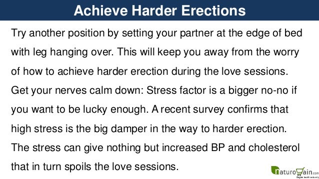 How To Get A Better Erection Naturally
