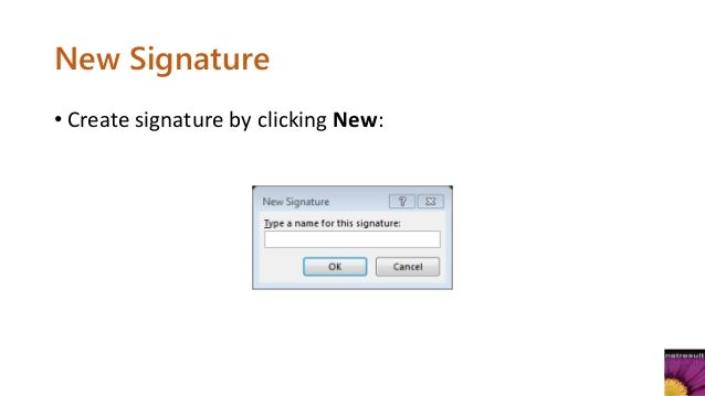 email signature how to add