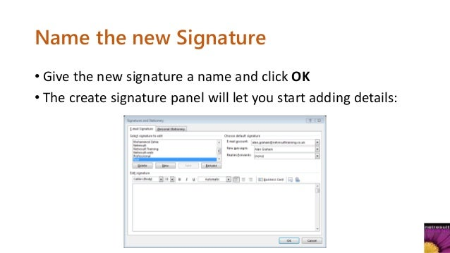 how to add an image to signature