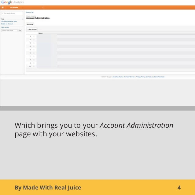 By Made With Real Juice 4Which brings you to your Account Administrationpage with your websites.